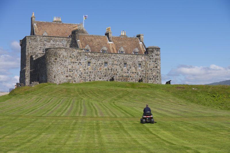 Schottland, Duart Castle, der Gärtner