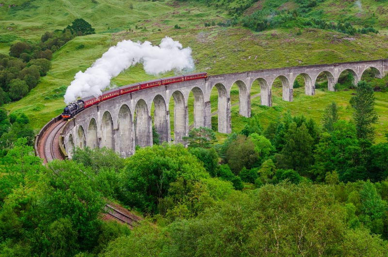 Rundreise Schottland - Glenfinnan Viadukt