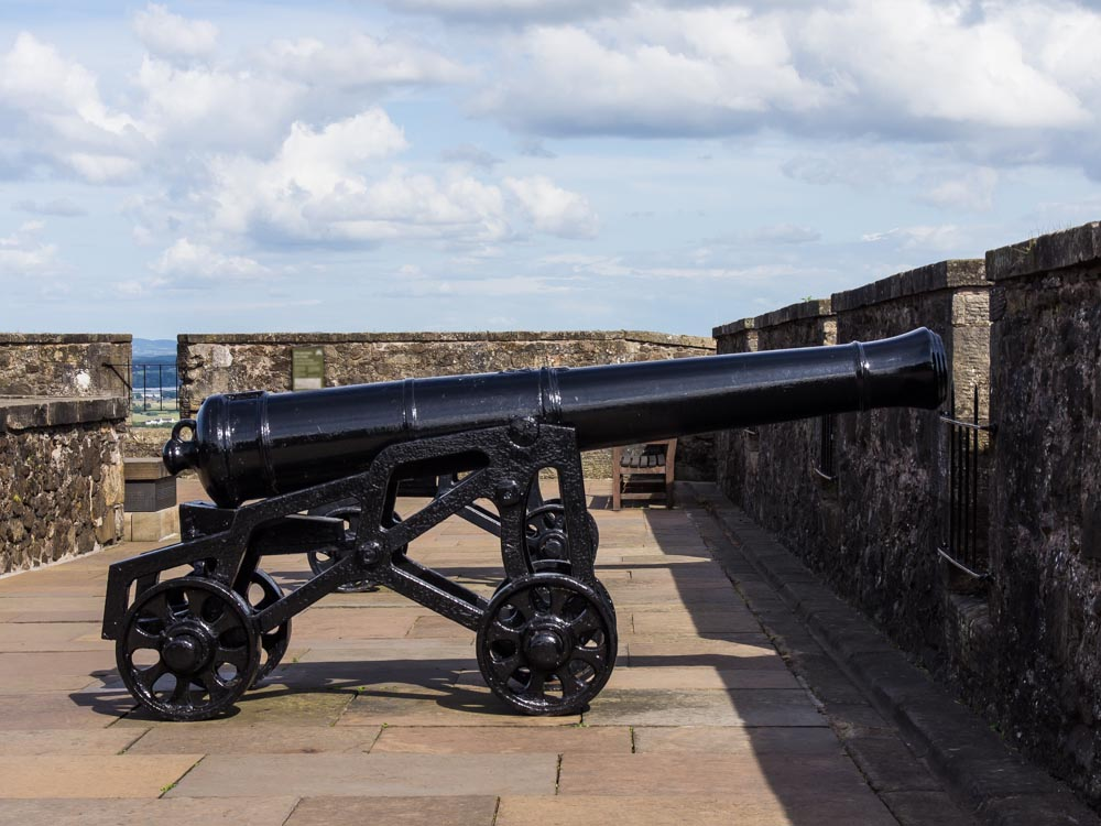 Stirling-Castle-Kanone