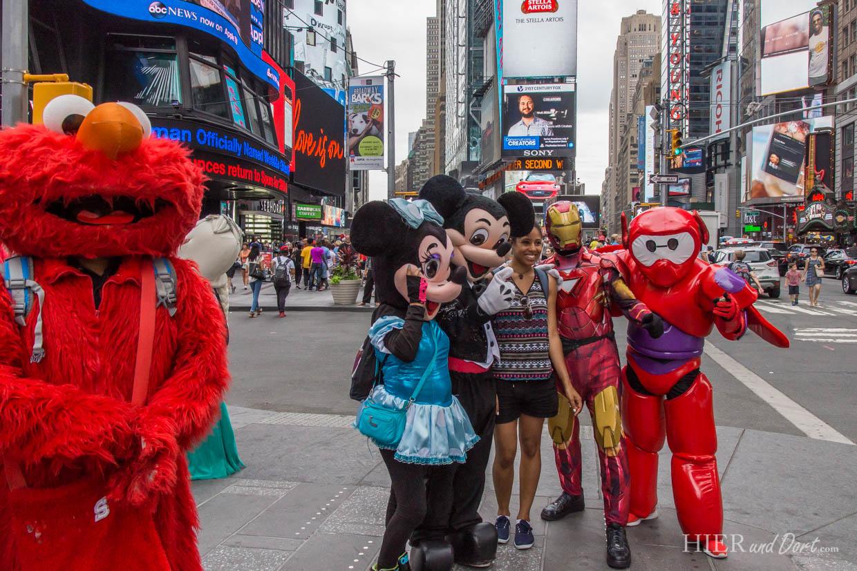 Bald jeder Comic-Held ist am Times Square zu finden und bietet (gegen Trinkgeld) ein schönes Begleitmotiv