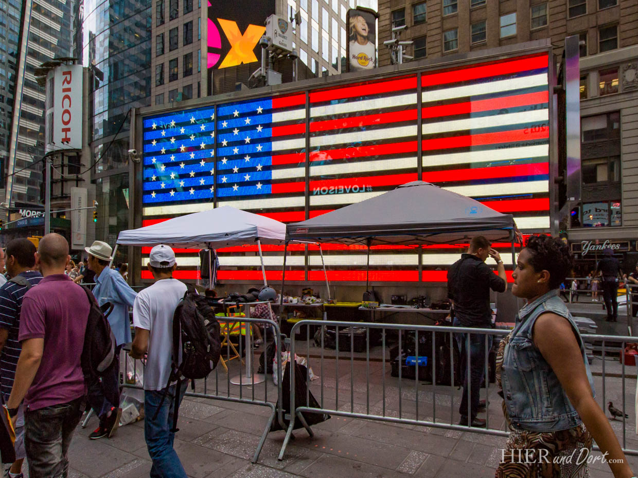 Times Square US-Flagge